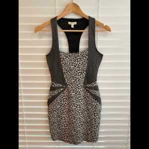 Silence + Noise Leopard Print Dress XS